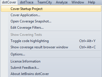 Using dotCover to Cover Applications, with or without